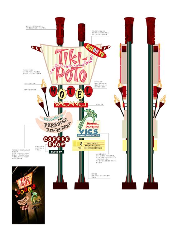 ザ・ハイロウズ ツアー 2001-2002「HOTEL TIKI-POTO」 ステージ用電飾看板