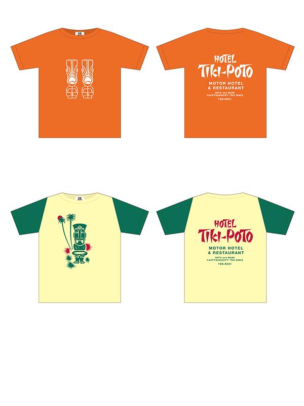 ザ・ハイロウズ ツアー 2001-2002「HOTEL TIKI-POTO」 ツアー公式Tシャツ