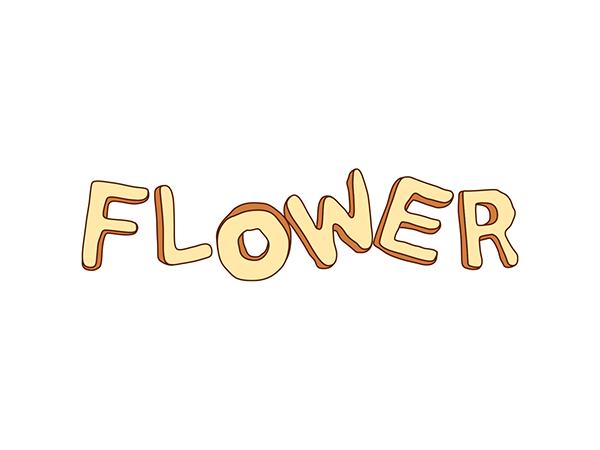 ザ・ハイロウズ 「FLOWER」 マキシシングルコンセプトロゴタイプ